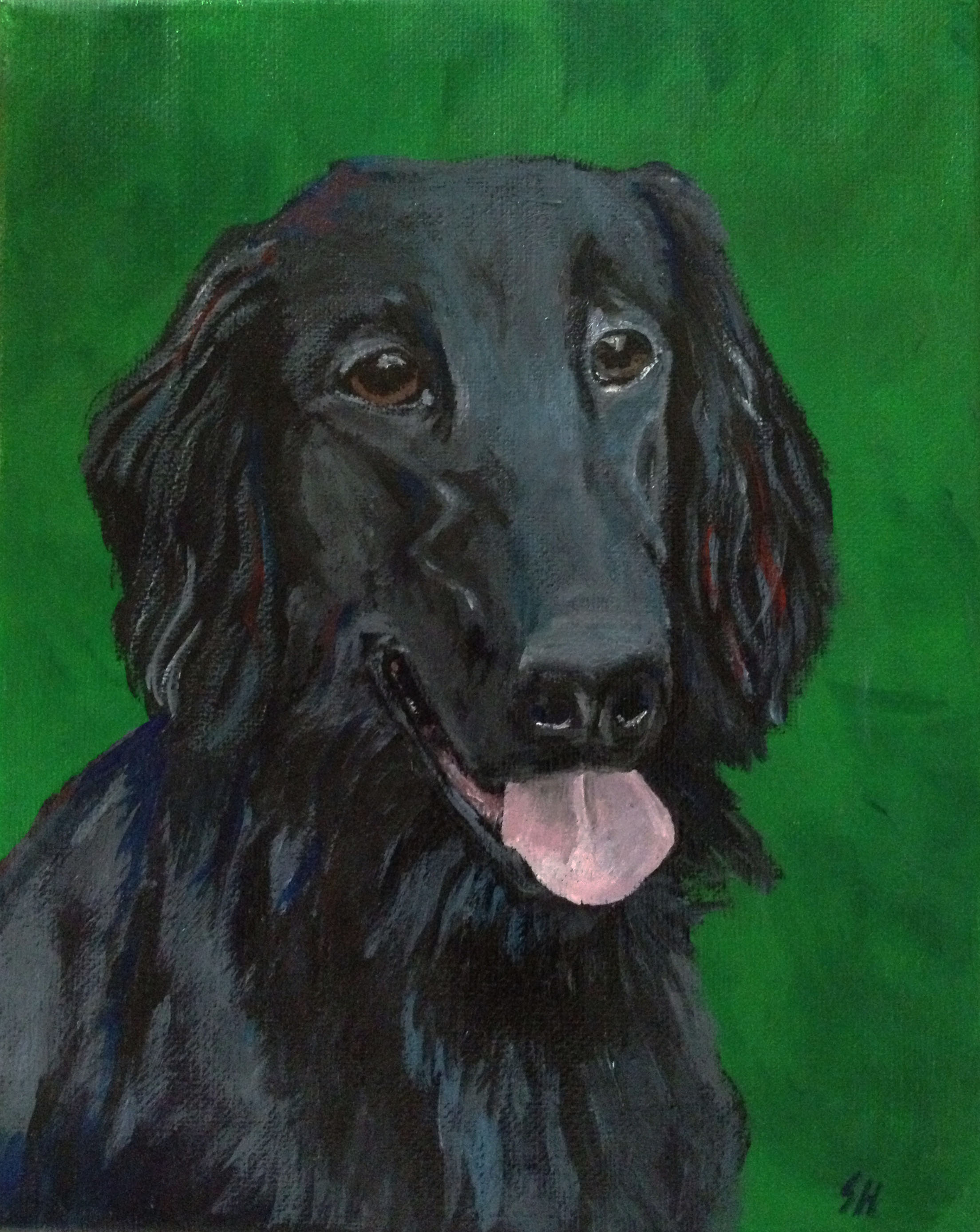 Dino the Flatcoat (SOLD)