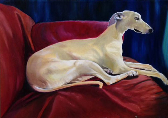 Cesar the Whippet (SOLD)