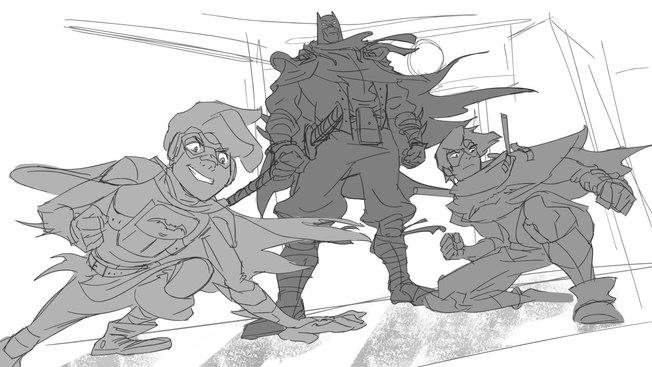 Kizer Stone Designed Bat Family
