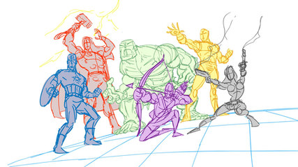 Avengers rough Sketches