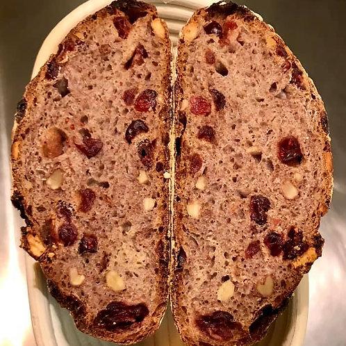 Walnut, Cranberry & Red Wine Sour Dough Bread