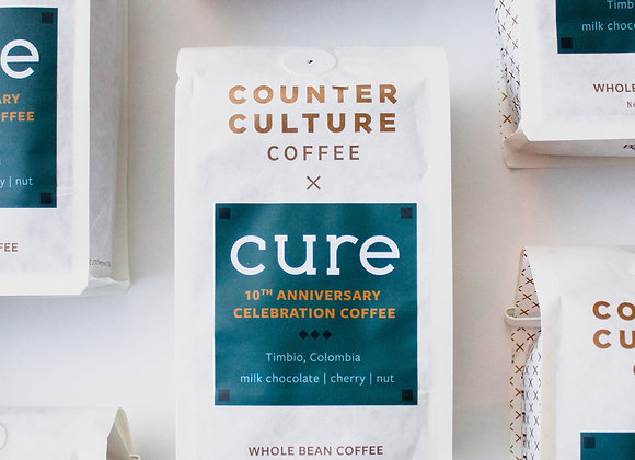 Cure X Counter Culture Coffee 10th anniversary whole beans