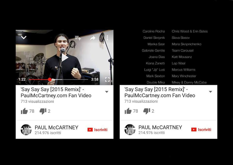 Paul McCartney's videoclip