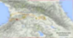 Carte Géorgie itinéraire camping car