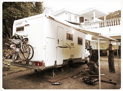 réparations capig car, joints fenetres campig car, amortisseurs camping car