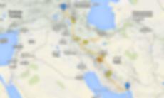 carte Iran itinéraire camping car