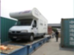 camping car shipping cargo port