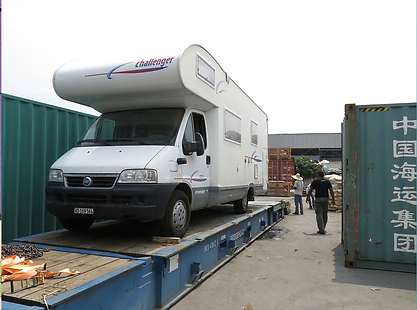 camping car shipping cargo port