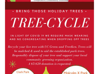 TREE-CYCLE at Malcolm X Park or Clark Park, Sunday, January 10th