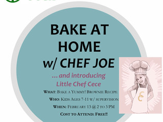 KIDS BAKE AT HOME w/ CHEF JOE ....and introducing Little Chef CeCe
