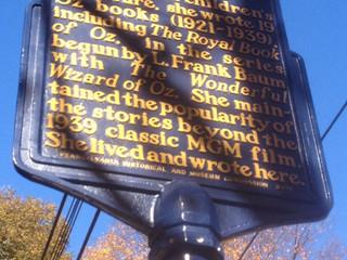 Commemorative Sign Post Erected in Garden Court