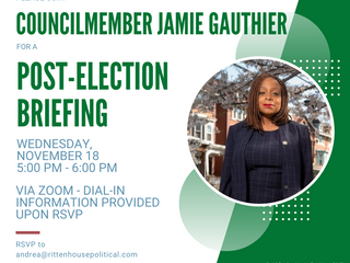 Join Councilmember Jamie Gauthier for a Post Election Briefing