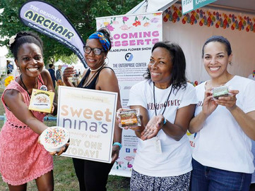 Dessert companies  Sweet Nina's,  KakeMi Cakes, and  Jillian Bakes bloom at Philadelphia Flower Show