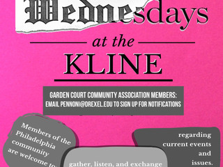 "GCCA members are invited to ""Wednesdays at the Kline"""