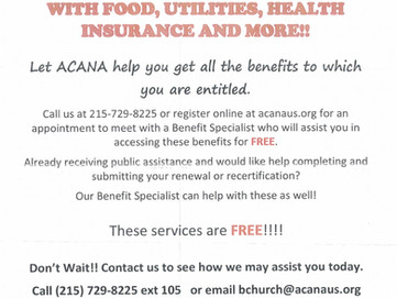ACANA may help your neighbors get all the benefits to which they are entitled