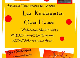 Lea Kindergarten Open House