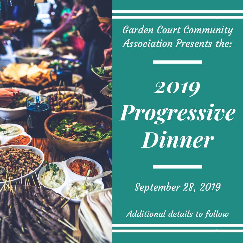 2019 Progressive Dinner-September 28, 2019