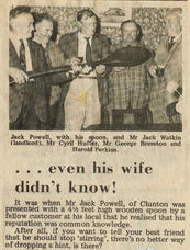 Jack Powell and his famous Wooden Spoon