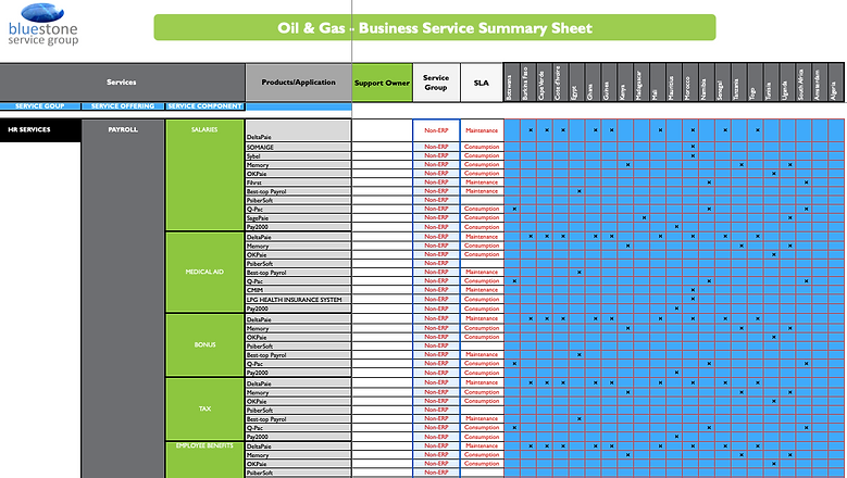 Sample Oil & Gas - Business Service Summ