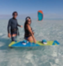 Kitesurfing lessons in paradise - KiteBoat Cruises
