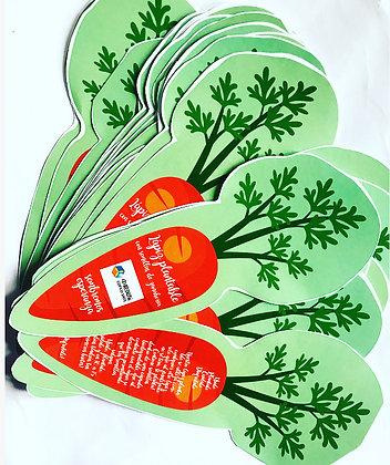 Lápiz Plantable! Opción 1: pack con cartón doble personalizado