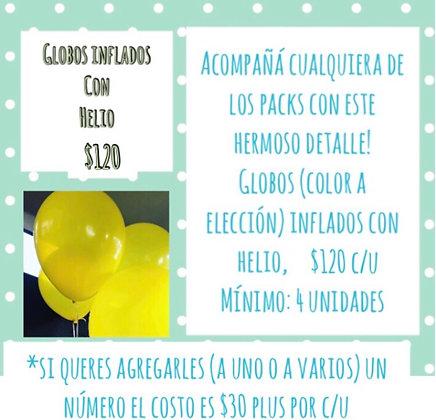 Globos inflados con Helio (CLICK para ver detalles)