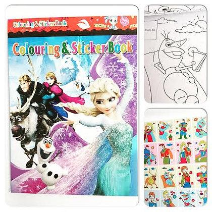 Libro para colorear + stickers (Nena)