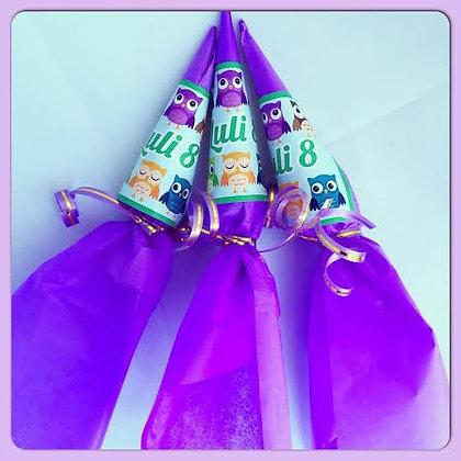 Paraguitas de chocolate personalizados (Mínimo: 10 unidades)