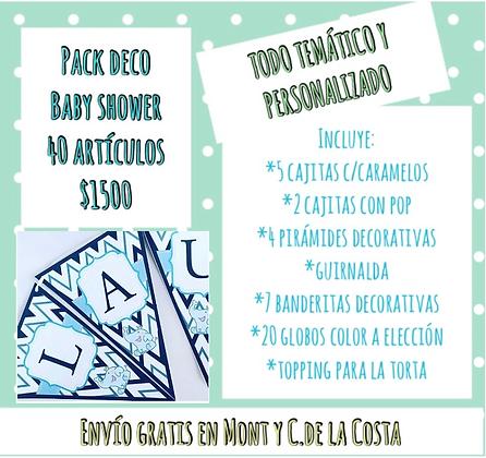 Pack deco baby 40 artículos (CLICK PARA VER DETALLES)