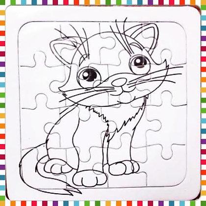 Puzzle para colorear 14x14 cm (CLICK P/VER DETALLES)