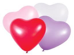 Globos con forma de corazón x 50 (CLICK PARA VER DETALLES)
