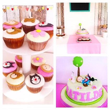 PROMO 3: Cupcakes a $47 con la Torta modelada (envío GRATIS en Mont)