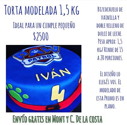 Torta c/modelado en plano / 1,5 kg aprox (CLICK PARA VER DETALLES)