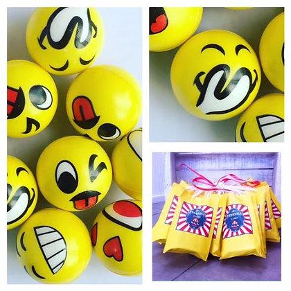 Pack: bolsita + pelota Emoji+ 6 golosinas surtidas (CLICK para ver detalles)