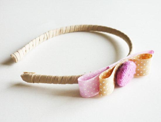 Vincha artesanal moñita (Mín.de artículos artesanales iguales o distintos: 15)