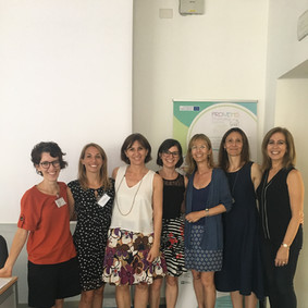 The Milanese team with Alexandra Marques Pinto