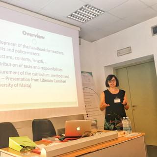 Presentation by Elisabetta Conte e Valeria Cavioni