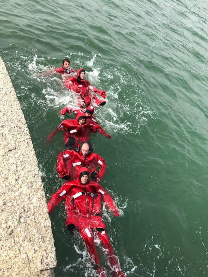 nage en groupe