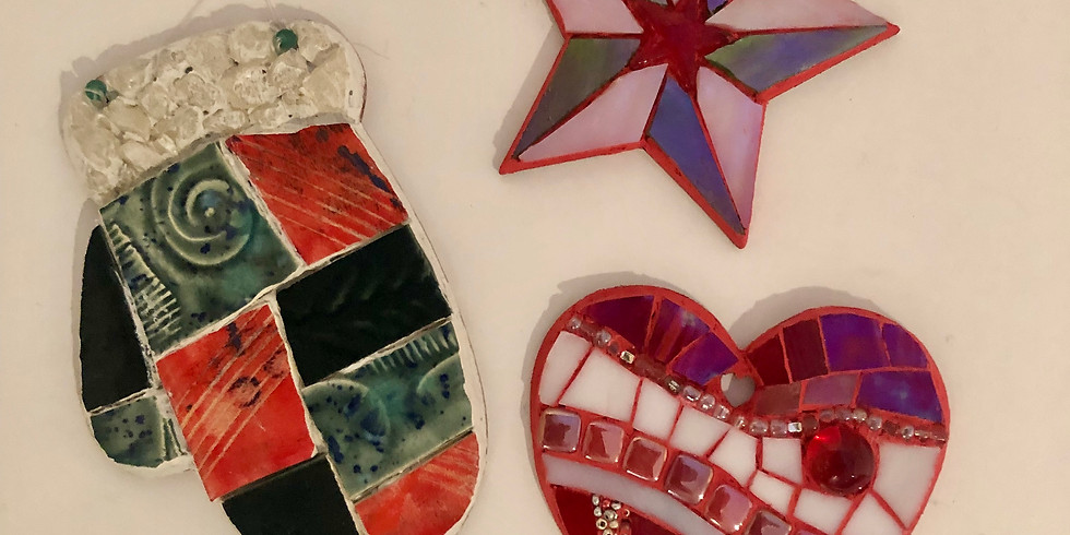 Mosaic Holiday Ornaments Workshop