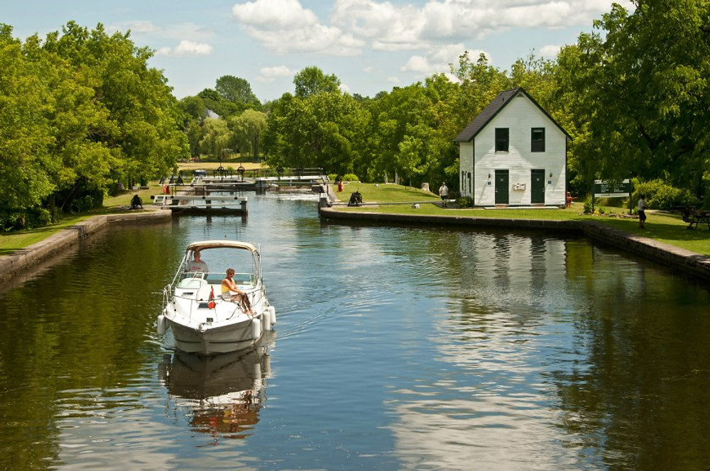 Rideau Canal in Merrickville, ON