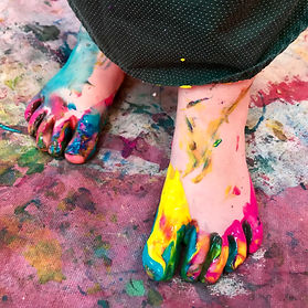 painted feet