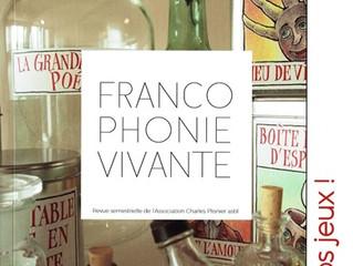 La revue Francophonie Vivante fait peau neuve.