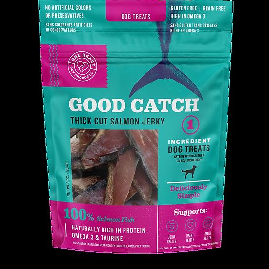 Good Catch Thick Cut Salmon Jerky Treat 3 oz