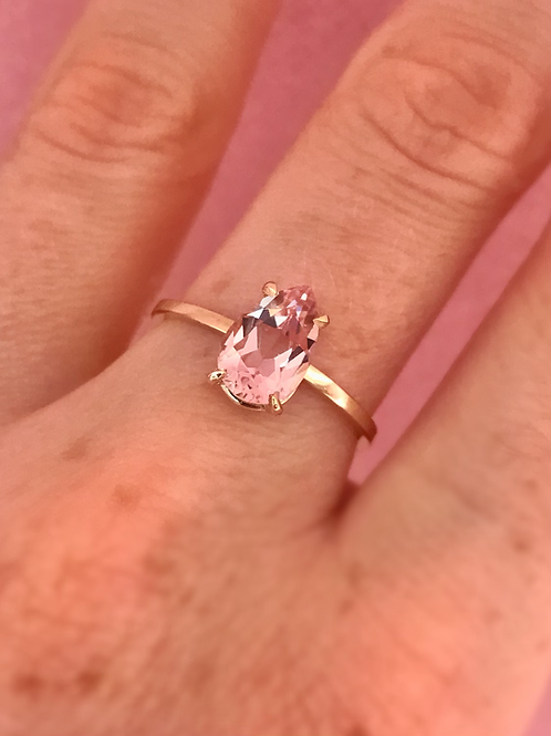 Pink Pear Ring
