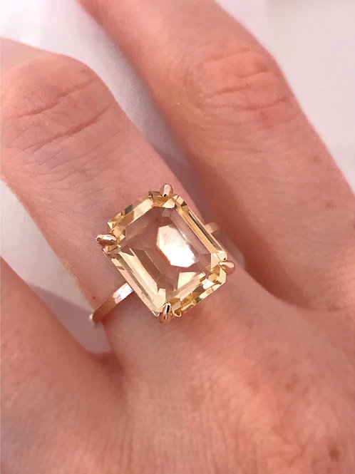 Yellow Cocktail Ring