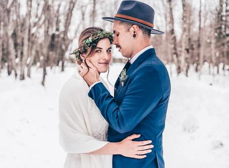 Love story au chalet en bois rond - Saint-Raymond (Québec)