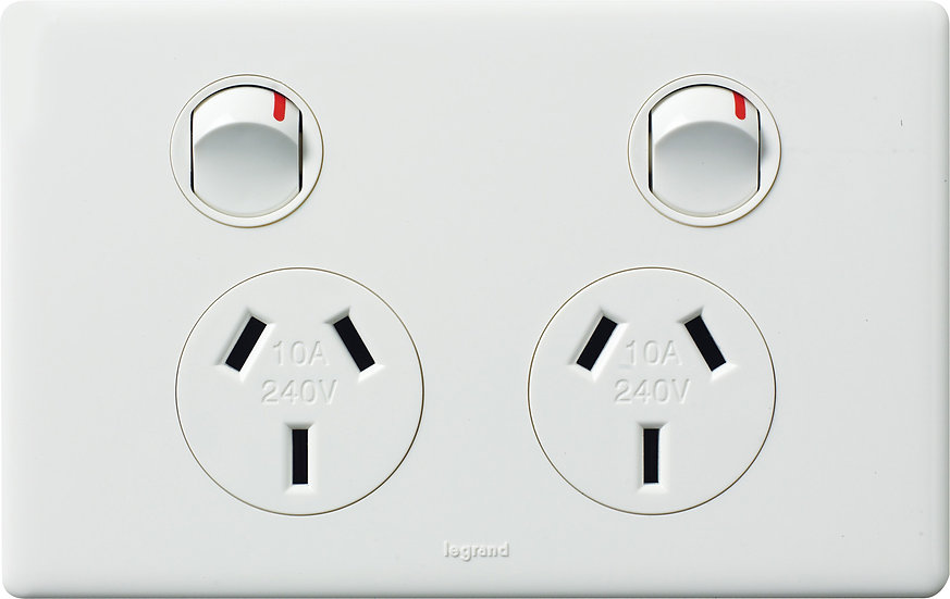 HPM Legrand 10A Double power point