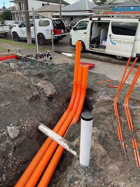 Underground conduit installation.JPG