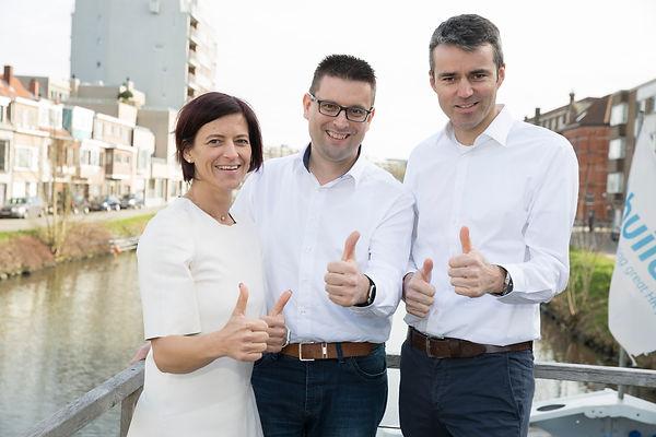 Katrien Devos, Robby De Caluwé en Hans Joris
