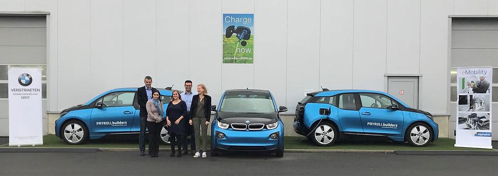 Dix BMW i3 pour la société de services en ressources humaines PAYROLLbuilders. Constituer une flotte durable dès le départ.